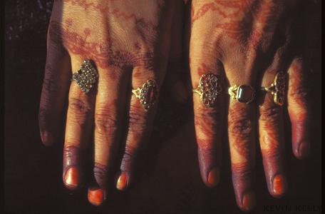 Henna-dye on woman's hand