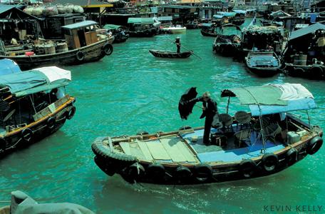 Hong Kong houseboats