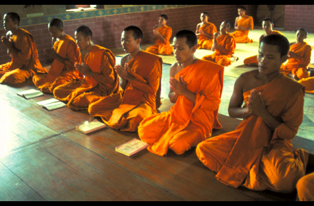 Reciting monks