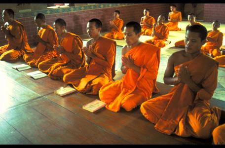 Reciting monks