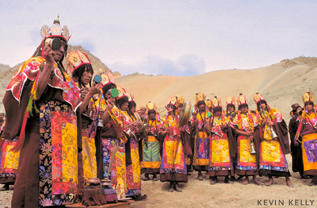 Tibetian funeral procession