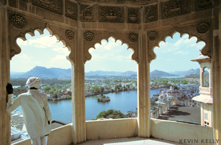 Overlooking the Lake Palace