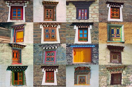 Tibet farmstead windows