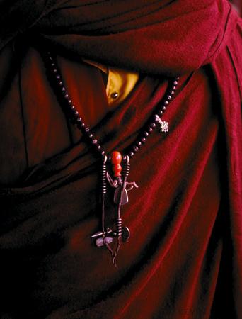 Charms, Tibetian monk