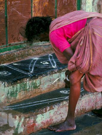 Flour paintings (Rangoli)